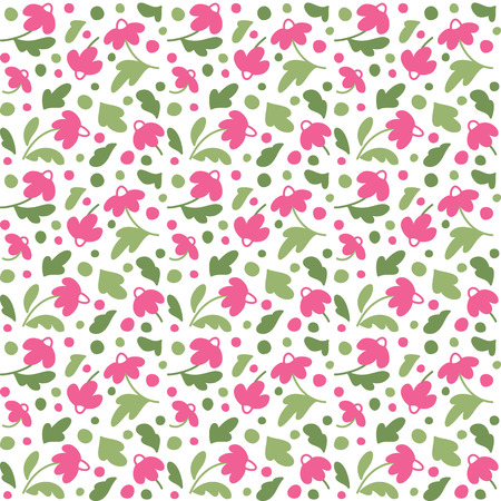stuffing: Seamless texture with flowers. A vector.