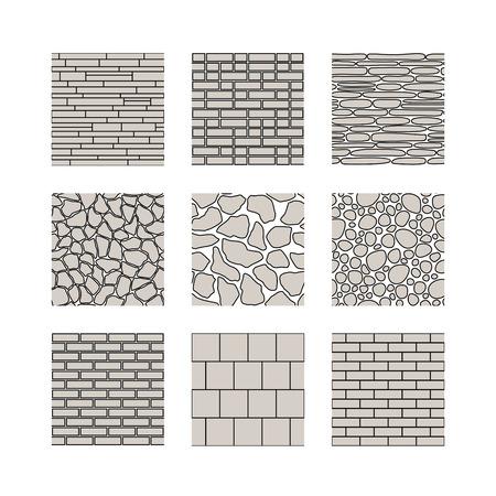 Eenvoudige naadloze structuur - baksteen, stenen muur. Vector set. Vector Illustratie