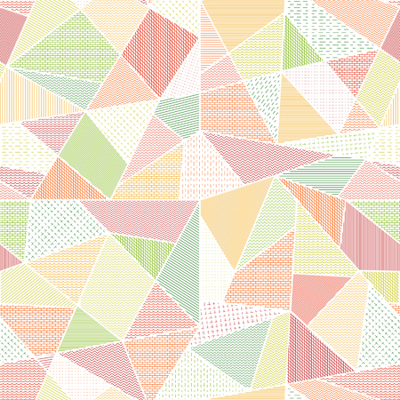 in common: Geometric abstract seamless texture - polygons. Illustration