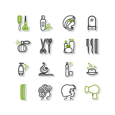 barbershop: Set of icons - beauty, barbershop. A vector.