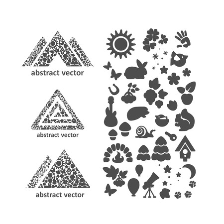 recreation: Set of icons - nature , recreation , ecology