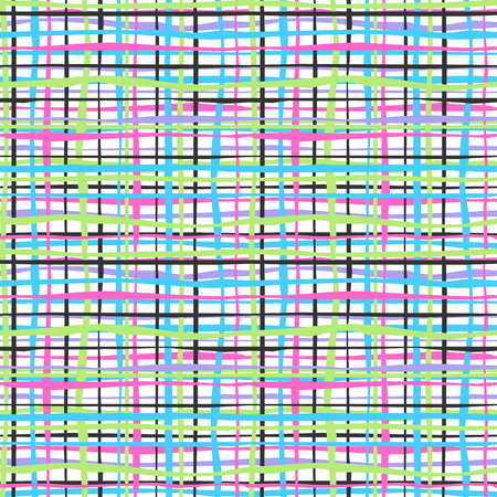 colorful stripes: Seamless texture - colorful stripes and lines. Vector.