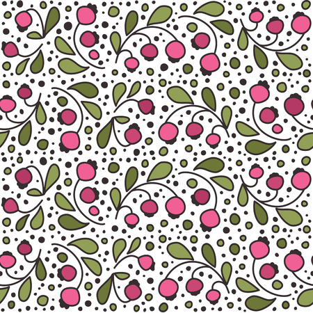 bilberry: Seamless texture with berries. A vector. Illustration