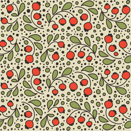 Seamless texture with berries.