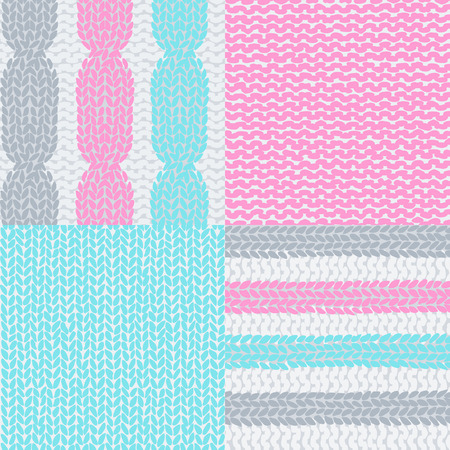Knitted colorful seamless texture. A vector. Illustration