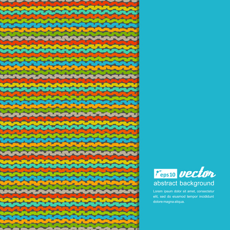 strip structure: Knitted colorful background. A vector.