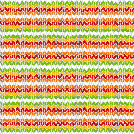 woollen: Knitted colorful seamless texture. A vector. Illustration