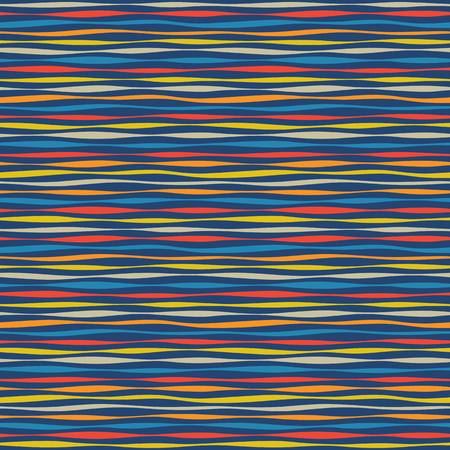 Seamless texture - colorful stripes and lines. Vector illustration.