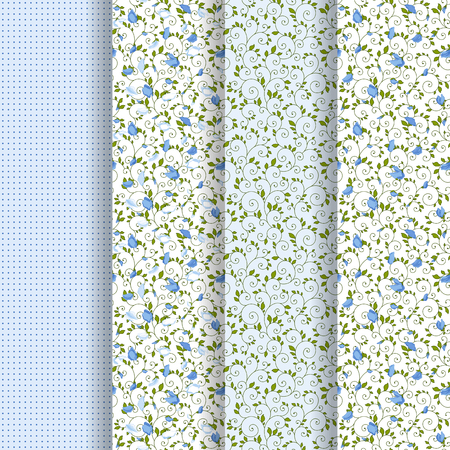 Seamless texture with summer Sweet pea.