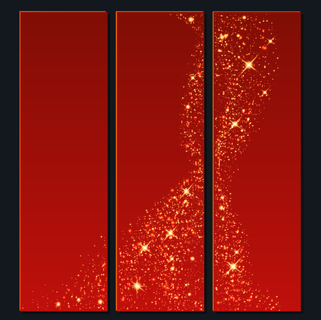 Vector background of glowing light effect stars. Shining glitter particles allocated on neutral background. Dust sparks. Space for your message. vector illustration.