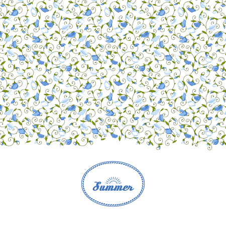Background with summer Sweet pea. A vector. Illustration