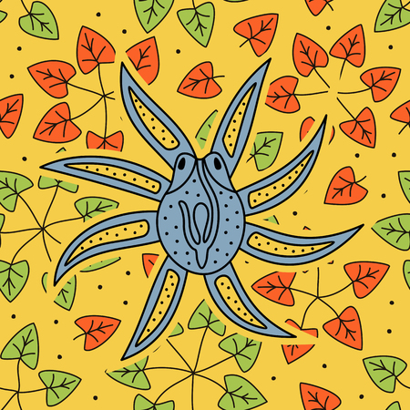 Hand drawing - octopus Illustration