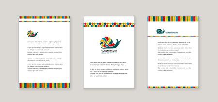 Style d'entreprise - Escargot lumineux. Couverture pour bannières, affiches, brochures, dépliants. Vecteur.
