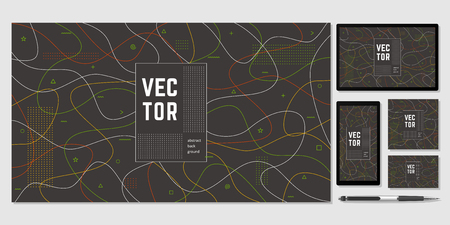Abstract cover for your design - banners, posters, placards, brochures, flyers etc. Eps10 vector template set.