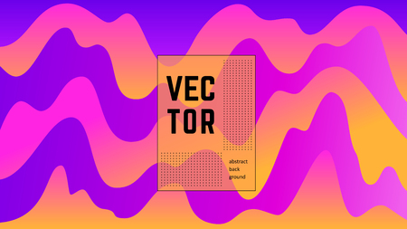 Bright cover for your design - banners, posters, placards, brochures, flyers etc. Eps10 vector template. Ilustração
