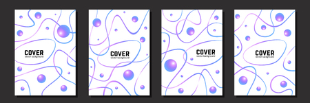 Abstract composition for your design - banners, posters, placards, brochures, flyers etc. Eps10 vector template set. Ilustração