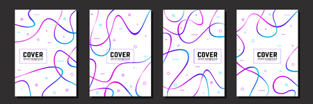 Abstract cover for your design - banners, posters, placards, brochures, flyers etc. Eps10 vector template.