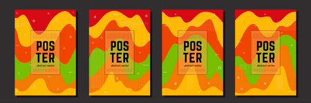 Bright cover for your design - banners, posters, placards, brochures, flyers etc. Eps10 vector template set.