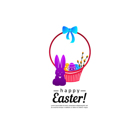 Easter. Composition for your design - banners, posters, placards, brochures, flyers etc. Eps10 vector template.