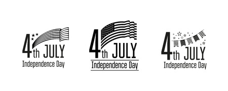 July 4 - Independence Day of the USA. Composition for your design.