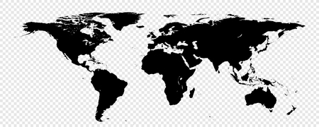 Isolated World map for your design - banners, posters, placards, brochures, flyers etc. Eps10 vector template. Elements of this image furnished by NASA.