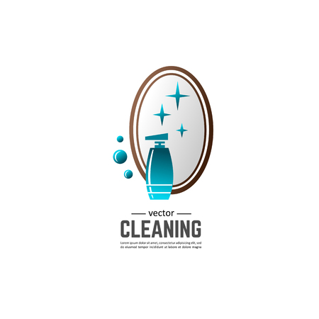 Bathroom equipment, repair, cleaning. Composition for your design - banners, posters, placards, brochures, flyers etc. Eps10 vector template.