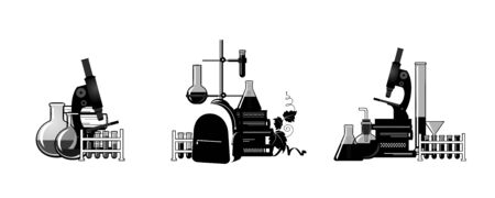 Chemistry. Template for for your design - banners, posters, placards, brochures, flyers etc. Eps10 vector set.