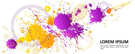 Abstract background - bright spots of paint. Modern neutral composition for your design. Eps 10 vector. Ilustração