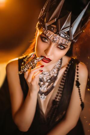dark evil queen , wild Princess , vampire , hip toning , creative color,dark boho