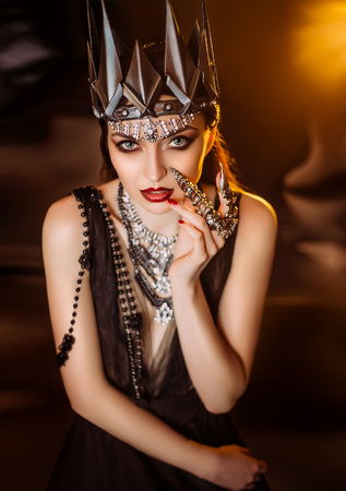 dark evil queen ,wild Princess , vampire , hip toning , creative color,dark boho