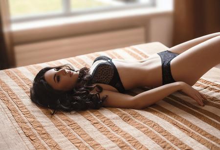 Beautiful, sexy photo shoot Stockfoto
