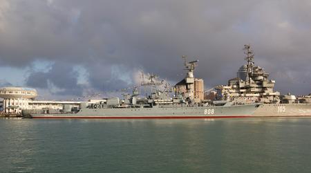 NOVOROSSIYSK, RUSSIA, MAY 9, 2015: Patrol ship