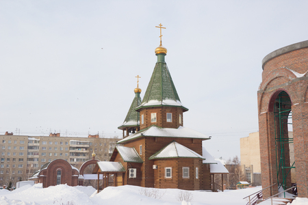 The temple in honor of the assumption of the blessed Virgin. Novosibirsk, Russia