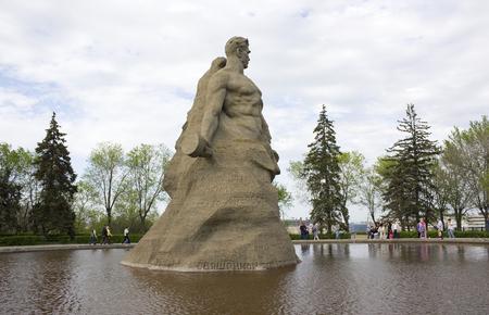 VOLGOGRAD,  RUSSIA - MAY 8, 2011. Sculpture  Stand to death!. The historical memorial complex Mamayev Kurgan in Volgograd