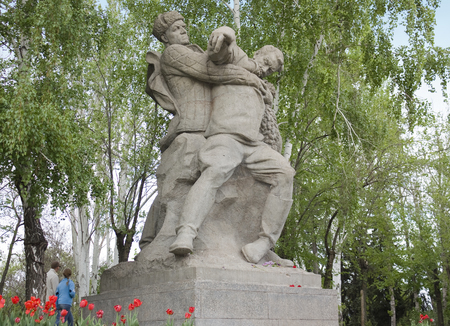 VOLGOGRAD,  RUSSIA - MAY 8, 2011. Sculpture in the historical memorial complex