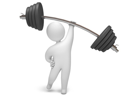 Barbell, 3d render Stock Photo - 10983201