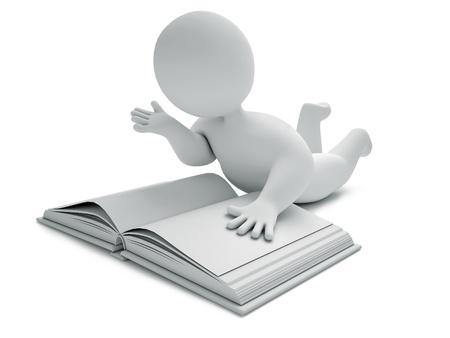 Book, 3d render Stock Photo - 10983204