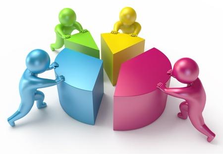 changement graphique, les gens, rendu 3d