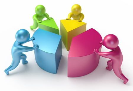 shift: chart shift, people, 3d render Stock Photo