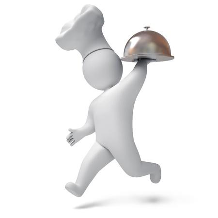 Cook 3d render Stock Photo