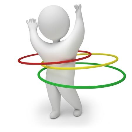lose weight: 3d render hula hoop