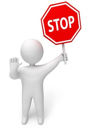 terminate: Stop sign, 3d render