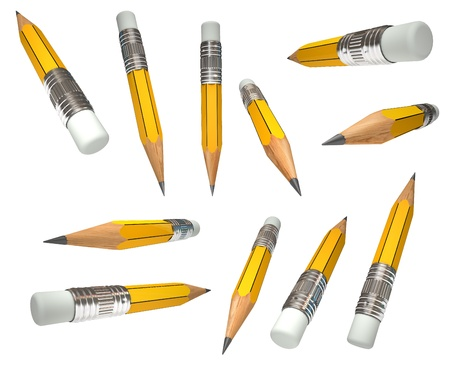 Set pencil, 3d render Stock Photo - 11196330