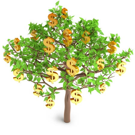 money tree: Increase in profits, 3d render Stock Photo