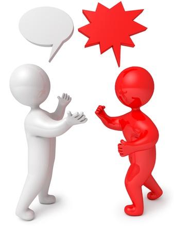 People dialog debate, 3d render
