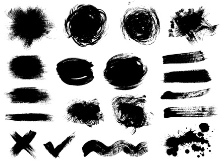 Vector set of dark blots on the white background Vector