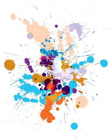 trickle: Vector set of colored blots on the white background
