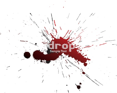 Vector colored blots on the white background Vector