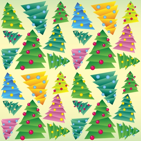 Christmas tree, seamless ornament, vector Vector