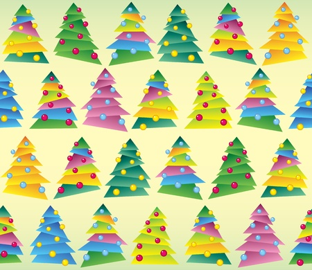 Christmas tree, wrapping, seamless tracery, vector Vector